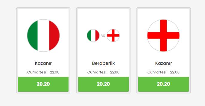 Bets10 Girişte EURO 2020 Finali'ne 20.20 Oran